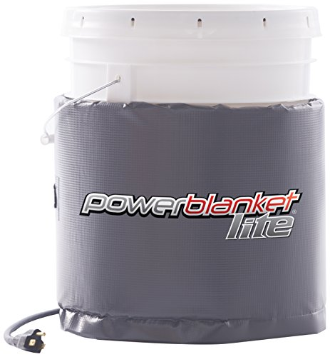 Save %31 Now! Powerblanket Lite PBL05 5-Gallon Insulated Pail Heater - Bucket Heater (5 Gallon / 19 ...