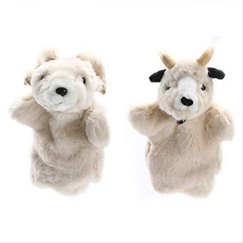ARTFFEL Animal 2pcs Mano marioneta Animal de Marionetas y muñecos de Peluche Ovejas Cabra Vieja muñeca de la Mano de Aprendizaje Marionetas de los Juguetes del bebé Precioso Natural