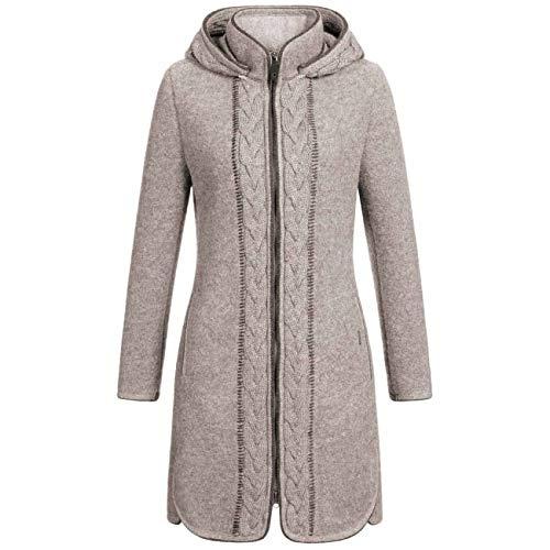GIESSWEIN Walkmantel Ilona - Warmer Mantel aus 100% Wolle, eleganter Mantel mit Kapuze, Filzmantel für den Herbst, atmungsaktive Damen Jacke, Bekleidung aus Wolle