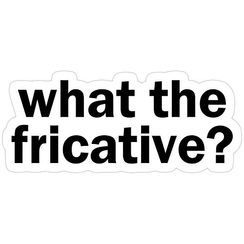 Sticker Vinyl Decal for Cars, Water Bottle, Fridge, Laptop - What The Fricative? | Linguistics Stickers (3 Pcs/Pack)