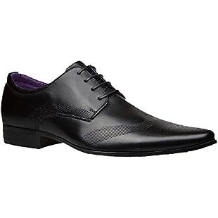 Robelli Men's Fashion Faux Leather Formal Shoes, 11 UK - Black