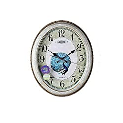 Living Room Quartz Wall Clock, Silent Home Wall Clock, Oval