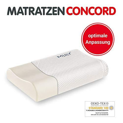 Matratzen Concord Nackenkissen MLILY Touch 60x40cm, Nackenstützkissen Bezug waschbar, Kissen ergonomisch für den Nacken