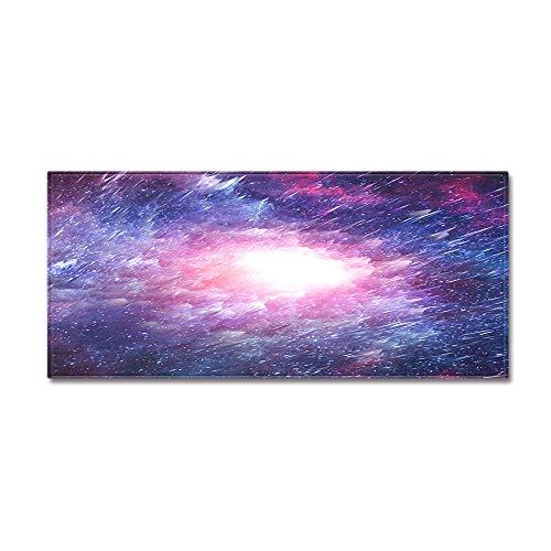 OPLJ Alfombra de Entrada Estera con Estampado de Cielo Estrellado para Dormitorio Sofá Suave Alfombra de Sala de Estar Alfombra Lavable Antideslizante Alfombras de baño de Cocina A2 60x180cm
