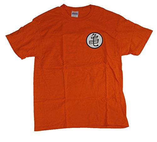 Dragon Ball Super DragonBallZ DBZ Roshi Kame Turtle Symbol Goku Tee Shirt Large Orange
