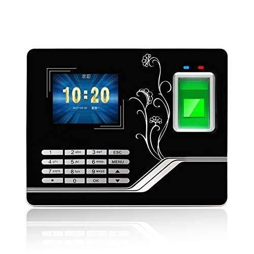 Máquina de control de acceso por huella dactilar b El personal de huellas dactilares biométrico de tarjetas chino e Inglés Tiempo de Asistencia anillo puede mecanizar Compruebe los registros de asiste