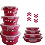 Natural's House 8pcs Collapsible Containers Round Silicone Food Storage - Containers BPA...