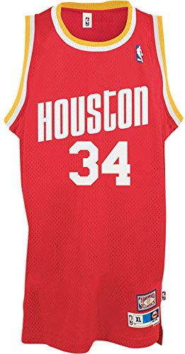 Outerstuff Hakeem Olajuwon Houston Rockets Red #34 Youth Throwback Soul Swingman Jersey (Large 14/16)