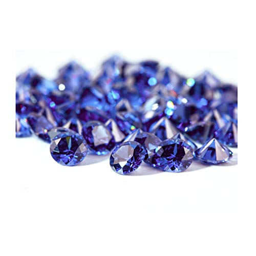 Neerupam Collection Blue Colour Cubic Zirconia AAA Loose Gemstones Round 1mm - 10mm, Cubic Zirconia CZ Stone for Ring/Necklace/Earrings, Jewelry DIY, Jewelry Making(1mm/1000pcs)