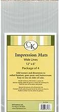 Fondant Impression Mat -wide Lines- Pkg Of 4