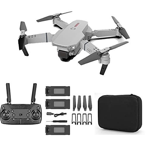 SWETIY Drone, Drone GPS con Telecamera 4K HD, Quadricottero WiFi Un Pulsante Decollo E Atterraggio, 3D Flip E modalità Headless, Drone per Bambini con 3 Batterie,No Camera Gray