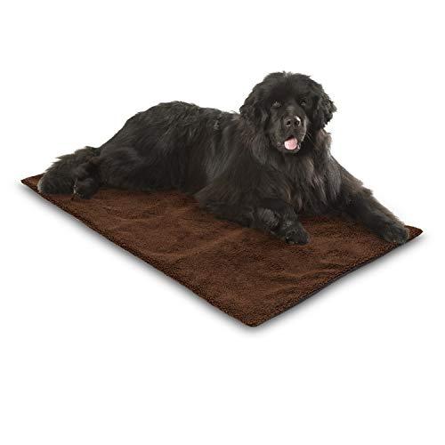 Bella & Balu Manta térmica para mascotas, incluye paño de microfibra para limpiar las patas, autocalefactable y aislante, con funda suave para perros y gatos (largo | 140 x 80 cm)