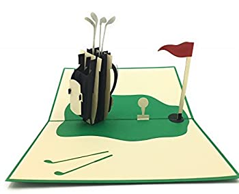 Golf lovers and enthusiasts unique pop-up card! For parents or grandfather s bday co-workers and retirement