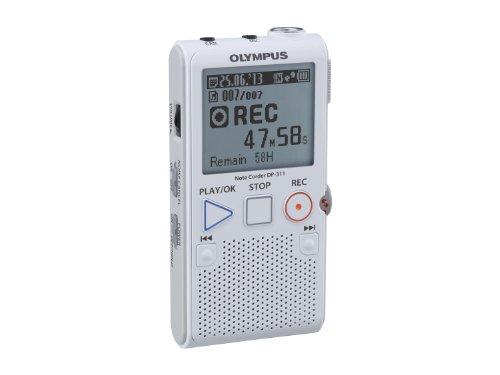 Olympus DP-311 Diktiergerät (2 GB Speicher, SD-Kartenslot, einfach zu bedienen), weiß