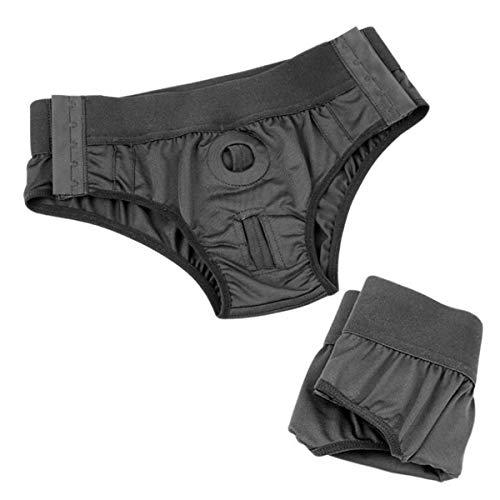 Unisex Strap on Harness Belt Pants Strapless Panties with Adjustable Belt in Black For Women Men (#1)