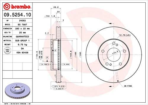 2x BREMBO Disque de frein VORNE pour NISSAN MAXIMA QX A32 MAXIMA II J30