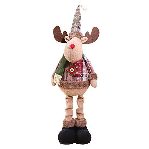 Weihnachtspuppe Aus Plüsch - Weihnachtsmann Weihnachtsschneemann Weihnachtselch Puppe Weihnachtsdekoration Figuren Weihnachtsdeko - 1PC