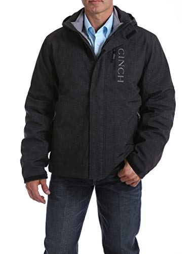 Cinch Men's Charcoal 3-in-1 Printed Bonded Jacket Charcoal X-Large