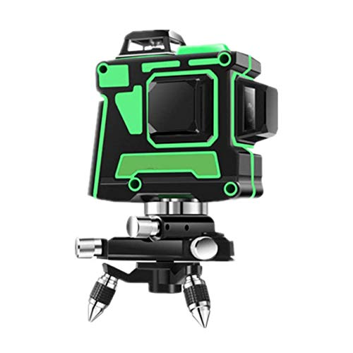 JIALILI Cross lines Green ray 3D 12 lines, IP54 Self-leveling Vertical and Horizontal Line 360 degrees lines Level, USB charging port