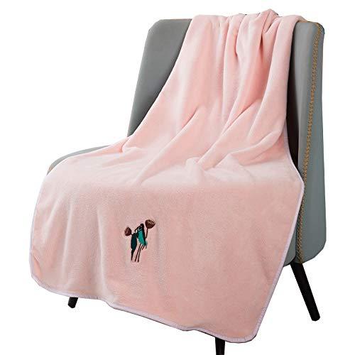 NanNew Badetuch Größe 100 x 200 cm/75x150cm Badetücher Saunatuch Baumwolle Farbe weiches und saugfähiges Badetuch