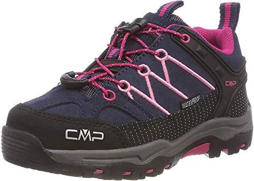 CMP Kids Rigel Low Trekking Shoes WP, Scarpe da Arrampicata Basse Unisex-Bambini, (B.Blue-Rose 80bn), 31 EU