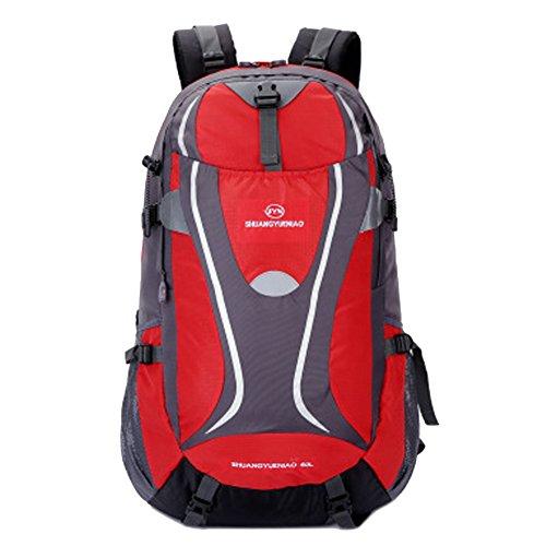 hikerway imperméable 40 Sac à dos casual sac à dos étudiant sac à dos pour voyage camping chasse Lover, Rouge