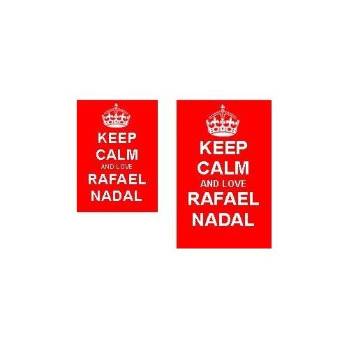 4e3881ec Keep Calm And Love Rafael Nadal Novelty Keyring and Fridge Magnet Set