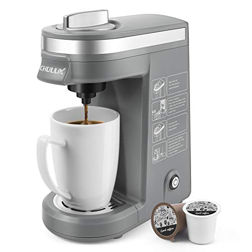 Single Serve Coffee Brewer for Pod Capsule with 12 Ounce Built-in Water Tank $31