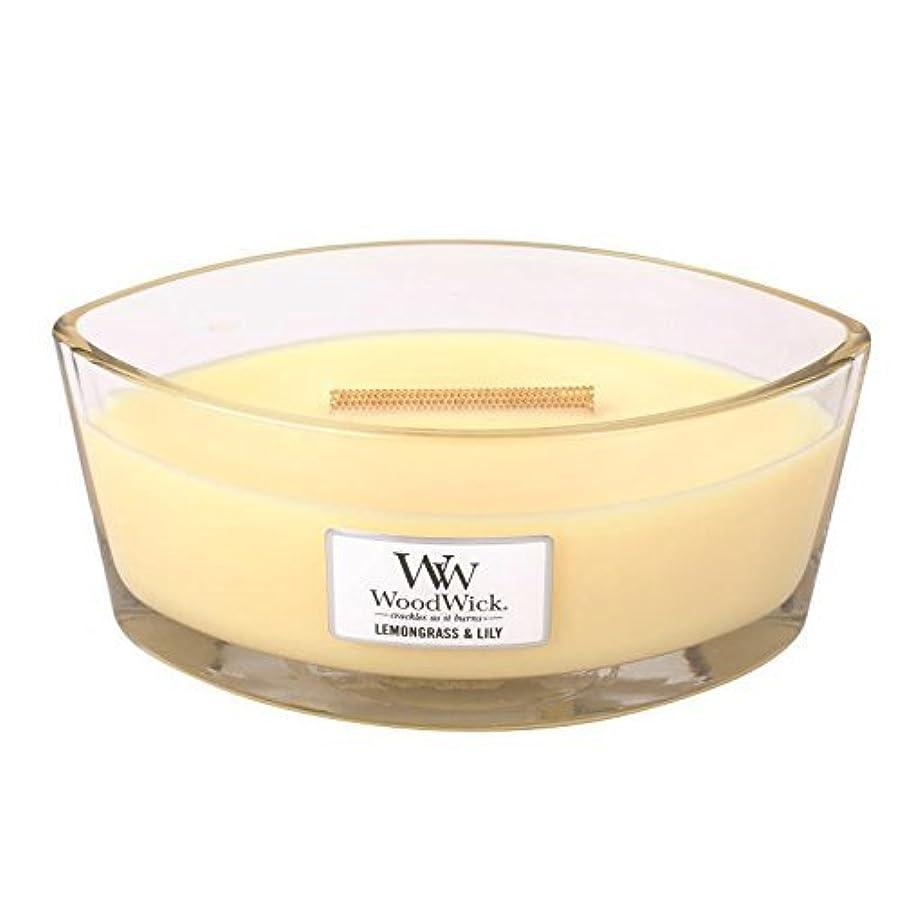 発疹回転させる敏感なLEMONGRASS LILY HearthWick Flame Large Scented Candle by WoodWick by WoodWick