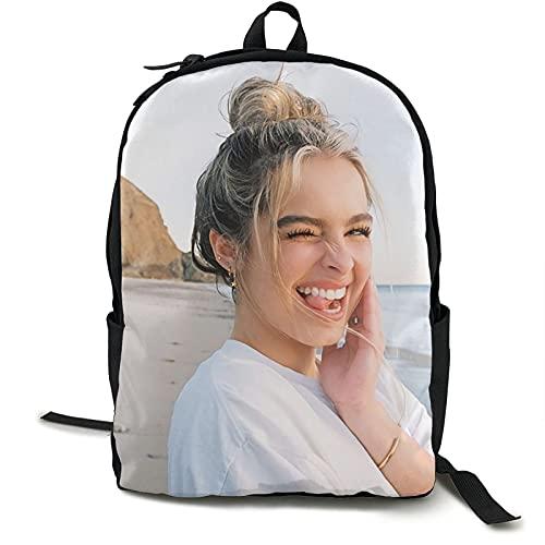 Addison Rae Mochila para portátiles, mochila escolar para niños y niñas, mochila impresa en 3D, mochila informal de viaje