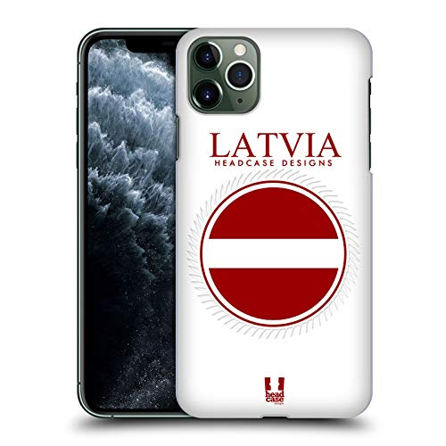 Head Case Designs Fahne Lettlands Fahne Flicken 2 Harte Rueckseiten Handyhülle Hülle Huelle kompatibel mit Apple iPhone 11 Pro Max
