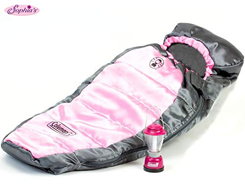 Sophia's Coleman Doll Sleeping Bag & Lantern Set, Perfect for The 18 Inch Camping American Girl Dolls & More! 18 Inch Coleman Doll Lantern and Sleeping Bag Set
