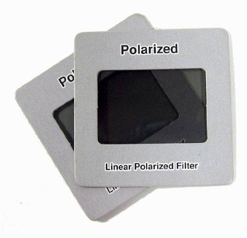 "PKG (4) 2' Square Linear Polarized Filter Slide has a 1-3/8"" x 15/16"" Window."