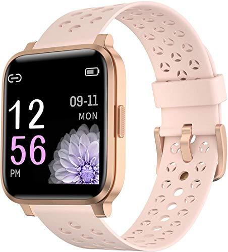 Smart Watch Fitnesss Trackers Monitor de actividad de pantalla táctil Hr Fitness Trackers podómetro para iOS Android-Rosa