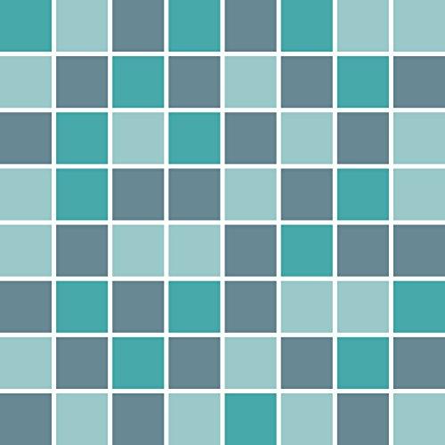 PrintYourHome Fliesenaufkleber für Küche und Bad | Mosaik Meer matt | Fliesenfolie für 15x20cm Fliesen | 56 Stück | Klebefliesen günstig in 1A Qualität