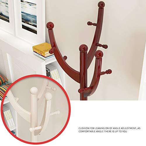YANG Wäscheständer Kleiderbügel Einfache Moderne Landung Massivholz Kleiderständer Schlafzimmer Wohnzimmer Kleiderbügel Hause Regal Farbe Optional Wäscheständer,Mahagoni Farbe