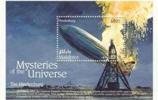 1992 Mysteries of the Universe, The Hindenburg, Zeppelin, Collectible Souvenir Stamp, Mint Never Hinged