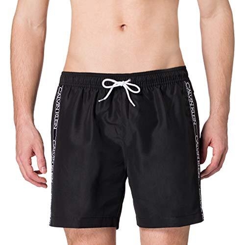 Calvin Klein Medium Drawstring Bañador para Hombre, Pvh Negro, L