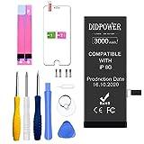 Didpower Reemplazo Compatible con iPhone 8 3000mAh [Super Capacidad] Batería con Kits de Herramientas de Reparación, Hoja de Vidrio Templado, Manual de Reparación