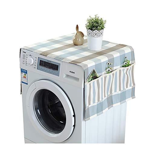 Eenvoudige Wasmachine Dust Cover, katoen en linnen Koelkast Wasmachine Waterproof Protective Cover Droger, Bag on the Edge (Size : 57×140cm/22.4×55.1in)
