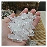 YSJJDRT Cristal Natural Rugoso Diente Natural Cristal Blanco Original Piedra Grava Calidad Blanco...