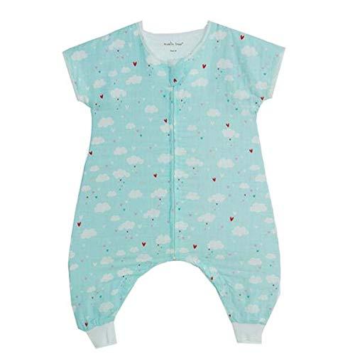 Emmala zomerslaapzak voor baby's met benen, 0,5 tog, 100% katoen, mousselin slaapzak, voor baby's zonder slapen