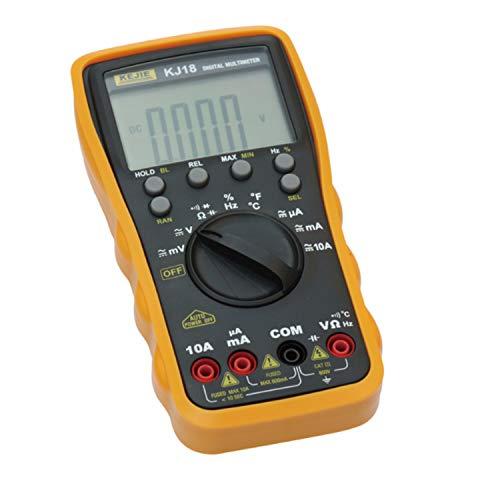 Multimetro 5999 Condes multímetro digital AC/DC voltios amperios Ohm Resistencia probador de continuidad de retención de datos portátil multímetro KJ102 para el hogar, automotriz, herramientas de me