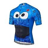 Weimostar Radtrikot Männer Fahrrad Top Kurzarm MTB Shirt Reißverschluss Mountain Road Kleidung Fahrradkleidung Summer Pro Team Sports Reiten Rennrad Trikot atmungsaktiv blau XL