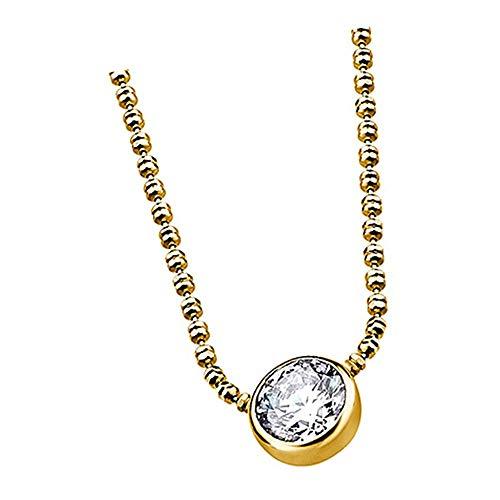 Lotus Silver Collar LP1272-1/6 con circonitas para mujer, plata 925 JLP1272-1-6, collar de plata