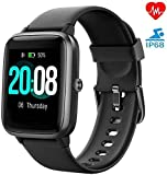 ZoeeTree Smart Watch with Heart Rate Monitor, 1.3inch Full Screen Touch Fitness Trackers