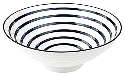 LBBZJM Ramen Sopa tazón de cerámica instantánea Fideos Cuenco 8 Pulgadas vórtice Ramen tazón Fideos tazón japonés Estilo vajilla tazón Solo tazón Sopa tazón Cuencos (Color : White, Size : 20 * 8.2cm)