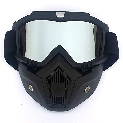 A prueba de viento A prueba de polvo Deportes al aire libre, gafas de esquí Invierno Deportes al aire libre Ski Snowboard MTB Ciclismo Cara completa Mascarilla Escudo Gafas (color: pieza gris)