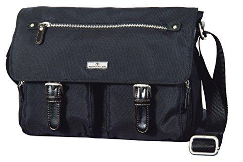 TOM TAILOR Umhängetaschen Damen, RINA , Schwarz (schwarz 60), 26x20x10 cm, TOM TAILOR Taschen für Damen, Messenger Bag