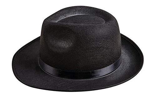 P'tit Clown 34760 Chapeau Feutre Al Capone Adulte - Noir
